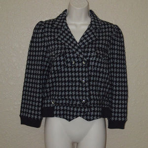 Sz S Marc by Marc Jacobs Black Gray Crop Jacket